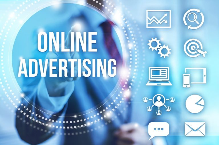 online advertising diagram with many channels digital marketing including channels tied into it including email marketing, chat features, search engines, smart phones, and mobile apps